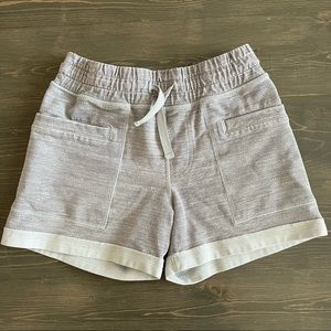 Ivivva Girls Grey Cotton Blend Drawstring Shorts
